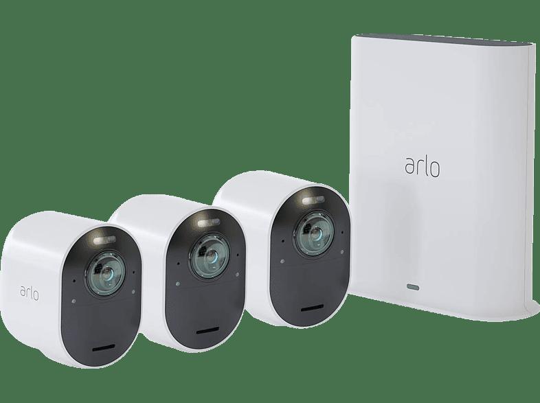 ARLO VMS5340-100EUS Ultra Kit 3er Set, Überwachungskamera, Auflösung Foto: 4k-HDR, Video: 4K-HDR-Video
