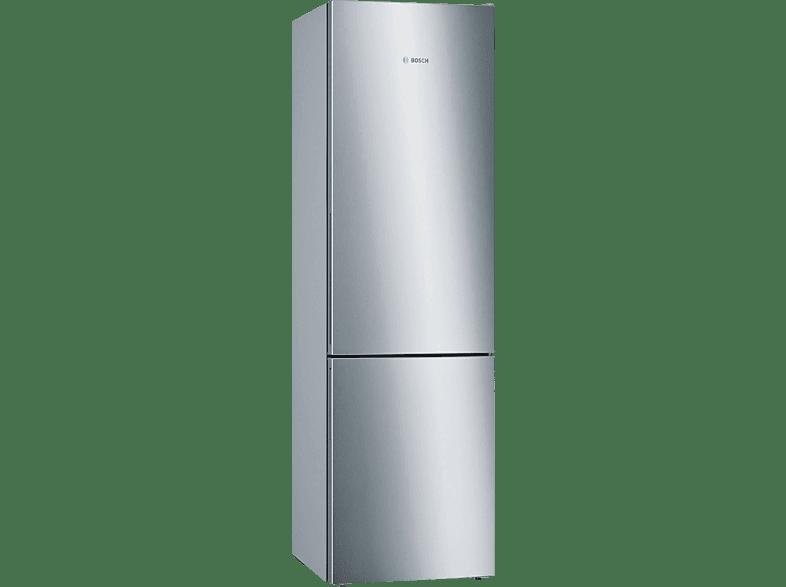 BOSCH KGE 394 LCA Serie 6 Kühlgefrierkombination C, 2010 mm hoch, Edelstahl-Optik Pearl Grey