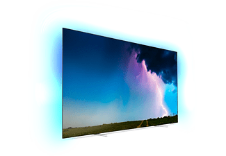 PHILIPS 55OLED754/12 OLED TV (Flat, 55 Zoll / 139 cm, OLED 4K, SMART TV, Ambilight, Saphi)