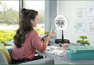 HAMA LED-Ringleuchte SpotLight FoldUp 102, Set für Smartphones, faltbar, 10.2 Zoll