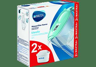 BRITA Marella Wasserfilter Blau mit 2 Maxtra+ Kartuschen