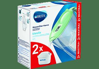 BRITA Marella Wasserfilter Grün mit 2 Maxtra+ Kartuschen