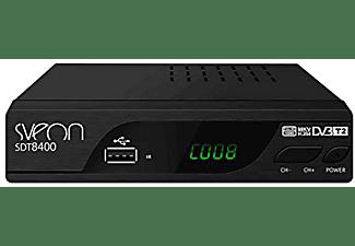 Sintonizador TDT - Sveon SDT8400, Sintonizador TDT2 HD, Funciones de Grabación, Negro