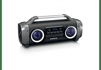 LENCO SPR 100 Bluetooth Lautsprecher, FM, Bluetooth, Schwarz