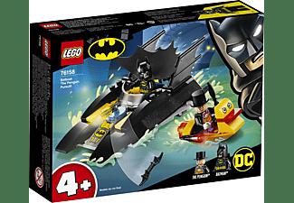 LEGO 76158 Verfolgung des Pinguins – mit dem Batboat Bausatz, Mehrfarbig