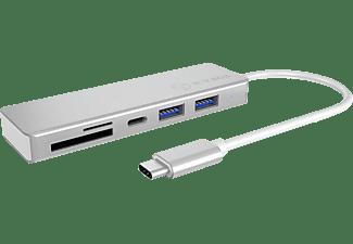 RAIDSONIC Type-C USB Hub, Silber