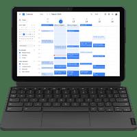 LENOVO IdeaPad Duet Chromebook, Chromebook mit 10,1 Zoll Display Touchscreen, Helio Prozessor, 4 GB RAM, 128 GB eMMC, ARM G72 MP3, Eisblau/Eisengrau