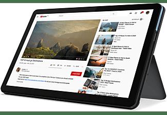 LENOVO IdeaPad Duet Chromebook, Plus Chromebook mit 10,1 Zoll Display Touchscreen, MediaTek Helio P Series Prozessor, 4 GB RAM, 128 GB eMMC, ARM G72 MP3, Eisblau/Eisengrau