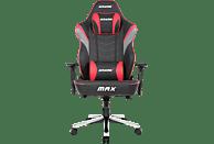 AKRACING Master MAX Gaming Stuhl, Schwarz/Rot/Grau