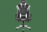 AKRACING Master MAX Gaming Stuhl, Schwarz/Weiß/Grau