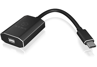 ICY BOX USB-C zu Mini DisplayPort Adapter, Schwarz