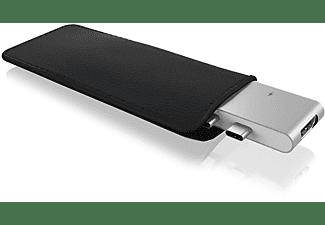 RAIDSONIC Dual USB Type-C Notebook Dockingstation, Silber