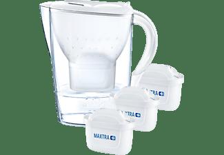 BRITA Marella inkl. 3 MAXTRA+ Tischwasserfilter, Weiß