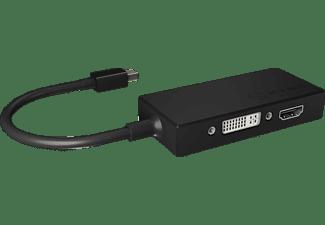 RAIDSONIC 3-in-1 Mini DisplayPort Grafikadapter, Schwarz