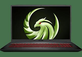 MSI Bravo 17 A4DDR, Gaming Notebook mit 17,3 Zoll Display, Ryzen™ 7 Prozessor, 16 GB RAM, 256 GB SSD, 1 TB HDD, Radeon RX 5500M, Schwarz