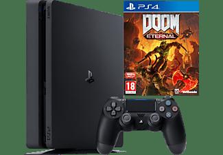 SONY PlayStation 4 Slim Konsole 500 GB + DOOM Eternal