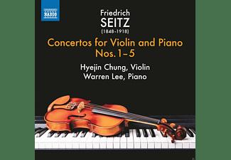 Warren Lee, Chung Hyejin - Friedrich Seitz: Concertos for Violin and Piano Nos. 1-5  - (CD)