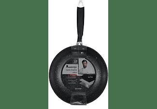 Sartén - Bergner BGMP-3317, 28 cm, Para inducción, Negro