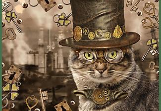 SCHMIDT SPIELE (UE) Puzzle Steampunk Katze 1.000 Teile Puzzle Mehrfarbig