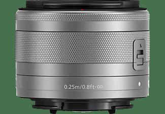 CANON EF-M 15 mm - 45 mm f/3.5-6.3 EF-M, IS, STM (Objektiv für Canon M-Mount, Silber)