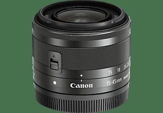 CANON EF-M 15 mm - 45 mm f/3.5-6.3 EF-M, IS, STM (Objektiv für Canon M-Mount, Graphit-Grau)