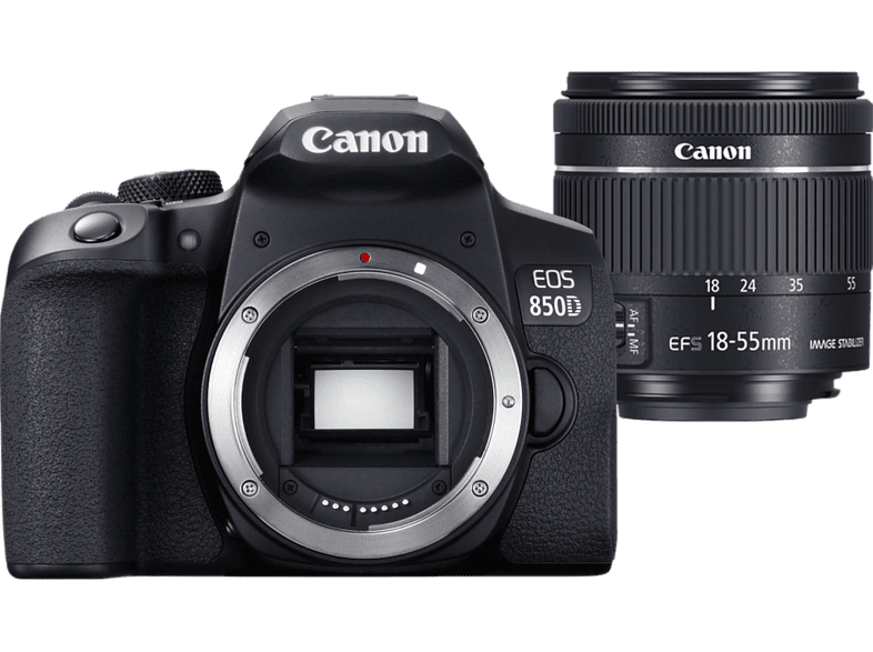 CANON Reflexcamera EOS 850D + 18-55 mm (3825C002AA)