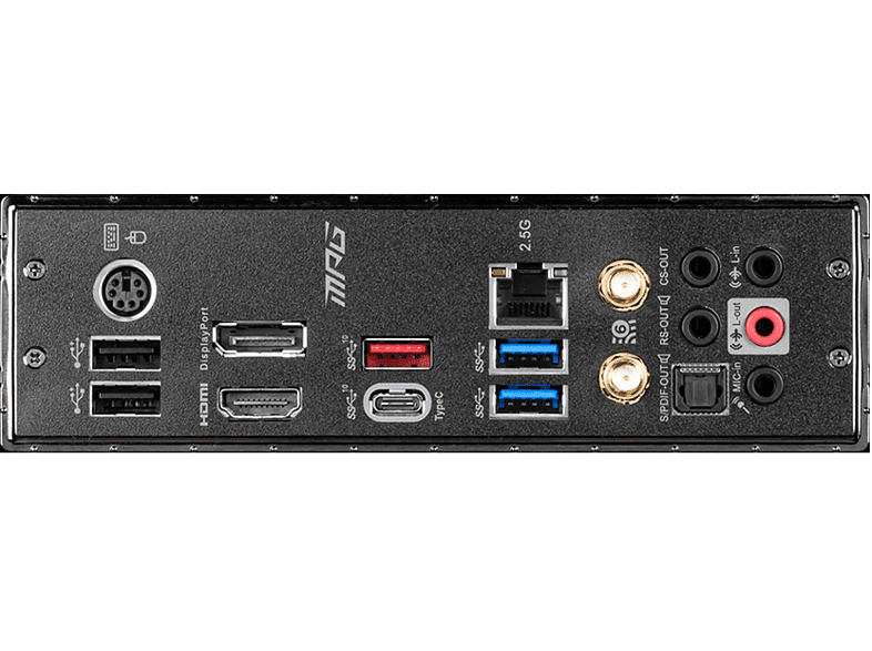 MSI MPG Z490M GAMING EDGE WIFI Mainboard Schwarz