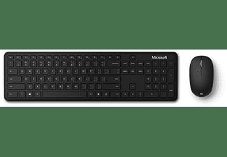 Pack Teclado + Ratón - Microsoft QHG-00024, Inalámbrico, Bluetooth®, Negro