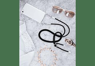 HAMA Cross-Body-Cover, Backcover, Apple, iPhone 7, iPhone 8, Transparent/Schwarz