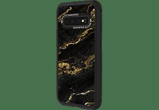 WHITE DIAMONDS Tough Marble, Backcover, Samsung, Galaxy S10, Schwarz/Gold