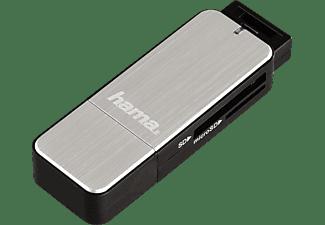 HAMA USB 3.0, Kartenleser, Schwarz/Silber