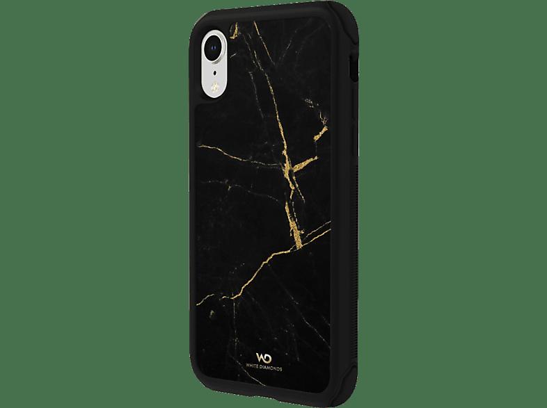 WHITE DIAMONDS Tough, Backcover, Apple, iPhone XR, Gold Schwarz