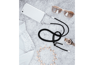 HAMA Cross-Body-Cover, Backcover, Apple, iPhone X, iPhone XS, Transparent/Schwarz