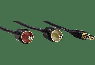 HAMA 1x 3,5-mm-Klinken-Stecker auf 2x Cinch-Stecker Audio Kabel