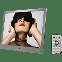 HAMA 97SLP Digitaler Bilderrahmen, 24,64 cm, 1.024 x 768 Pixel, Silber