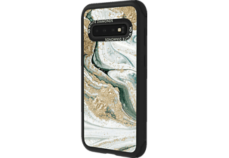 WHITE DIAMONDS Tough Marble Squirl, Backcover, Samsung, Galaxy S10, Turquoise Squirl