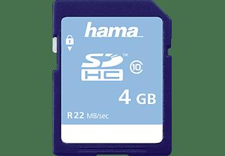 HAMA Class 10, SDHC Speicherkarte, 4 GB, 22 MB/s