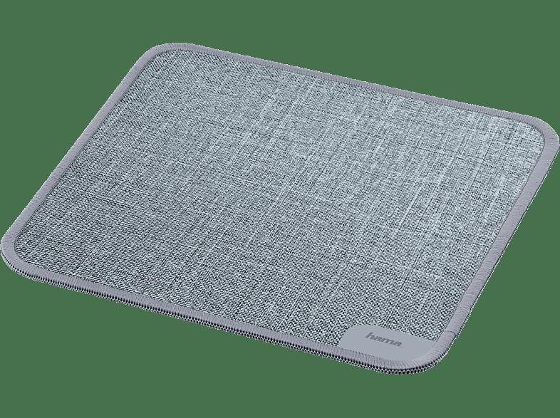 HAMA Textildesign, Mauspad, Grau, passend für Laser Mäuse Optische Mäuse