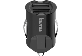 HAMA 2-fach USB-Kfz-Ladegerät Universal, Schwarz