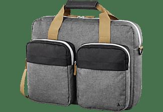 HAMA Florenz II Notebooktasche Umhängetasche für Universal Polyester, Grau/Schwarz