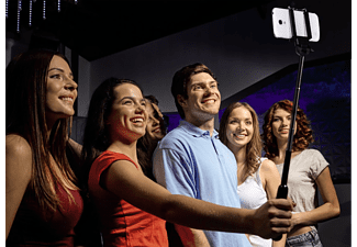 HAMA Moments 100 Einbein Selfie Stick, Schwarz, Höhe offen bis 1000 mm