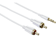 HAMA 3,5-mm-Klinken-St. Stereo Audio Kabel, Weiß