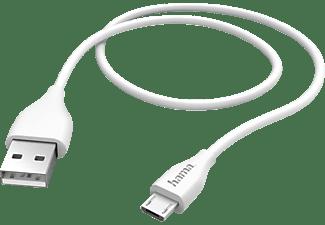 HAMA Micro-USB, Datenkabel/Ladekabel, 1,4 m, Weiß