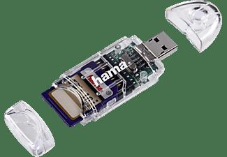 HAMA 8 in 1 USB2.0, Kartenleser, Transparent