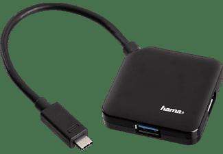 HAMA 1:4 bus-powered USB Hub, Schwarz
