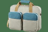 HAMA Florenz II 14.1 Zoll Notebooktasche Umhängetasche für Universal Polyester, Grau/Petrol