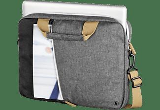 HAMA Florenz 17.3 Zoll Notebook-Aktentasche für Universal Polyester, Dunkelgrau/Schwarz