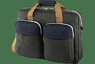 HAMA Florenz II Notebooktasche Umhängetasche für Universal Polyester, Dunkelgrau/Marineblau