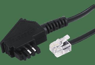 HAMA TAE-F-Stecker auf Modular-Stecker 6p4c, Telefonkabel, 6 m