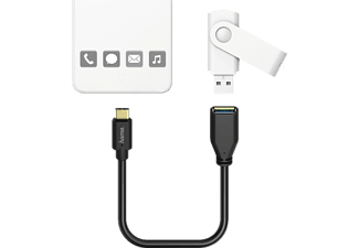 HAMA USB Type-C, Adapterkabel, Schwarz